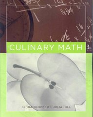 Culinary Math 3rd Edition 9780470068212 0470068213