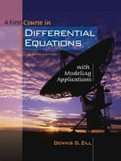 A First Course in Differential Equations with Modeling Applications (with CD-ROM and iLrn Tutorial) 8th edition 9780534418786 0534418783