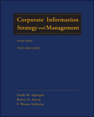 Corporate Information Strategy and Management: Text and Cases (8th edition)