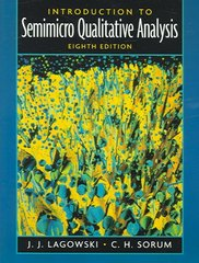 Introduction to Semimicro Qualitative Analysis 8th edition 9780130462169 0130462160