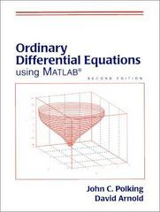 Ordinary Differential Equations Using MATLAB 3rd edition 9780131456792 0131456792