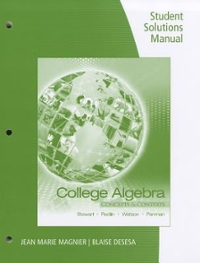 Student Solutions Manual for Stewart/Redlin/Watson/Panman's College Algebra: Concepts and Contexts (1st) edition 0495387908 9780495387909