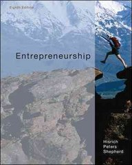Entrepreneurship 8th edition 9780073530321 0073530328