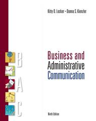 Business and Administrative Communication 9th edition 9780073377803 0073377805