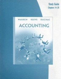 Study Guide, Chapters 14-26 for Warren/Reeve/Duchac's Accounting (23rd) edition 0324664281 9780324664287