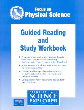 Focus on physical science guided reading and study workbook focus on physical science guided reading and study workbook california edition 0 9780130527295 0130527297 fandeluxe Image collections