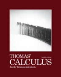 Thomas' Calculus Early Transcendentals (12th) edition 0321588762 9780321588760