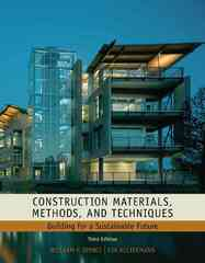 Construction Materials, Methods and Techniques 3rd edition 9781435481084 1435481089