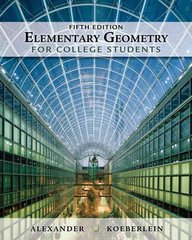Elementary Geometry for College Students 5th edition 9781439047903 1439047901