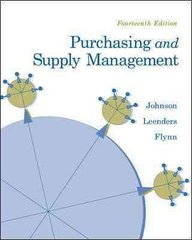 Purchasing and Supply Management 14th edition 9780073377896 0073377899