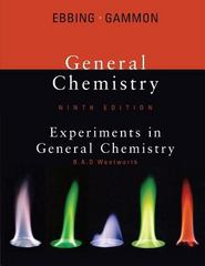 Lab Manual for Ebbing/Gammon's General Chemistry, 9th 9th edition 9780618949885 0618949887