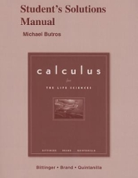 CALCULUS FOR THE LIFE SCIENCES&SSM PKG 1st edition 9780321481238 0321481232