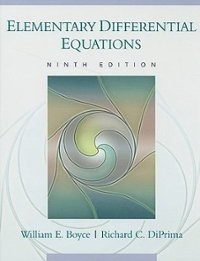 Elementary Differential Equations 9th Edition 9780470039403 047003940X