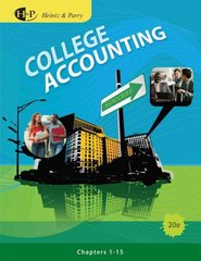 College Accounting, Chapters 1-15 20th edition 9781133008330 113300833X