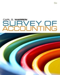 Survey of Accounting (5th) edition 9780538749091 0538749091