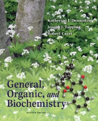 General, Organic & Biochemistry (7th) edition 9780077354800 007735480X