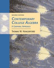Contemporary College Algebra 2nd edition 9780534466565 0534466567