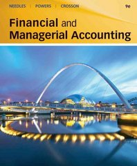 Financial and Managerial Accounting 9th edition 9781111787400 1111787409