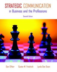 Strategic Communication in Business and the Professions 7th Edition 9780205693115 0205693113