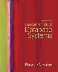 Fundamentals of Database Systems 6th Edition 9780133001655 0133001652