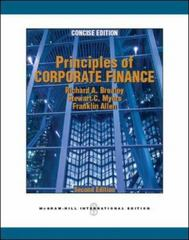 Principles of Corporate Finance, Concise 2nd edition 9780073530741 0073530743