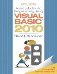 Introduction to Programming Using Visual Basic 2010 8th edition 9780132128568 013212856X