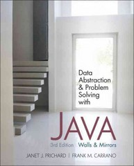 Data Abstraction and Problem Solving with Java 3rd edition 9780132122306 0132122308