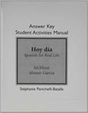 Answer key for student activities manual for hoy dia spanish for answer key for student activities manual for hoy dia 1st edition 9780205769841 0205769845 fandeluxe Choice Image