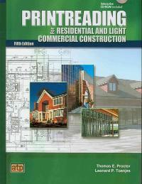Printreading for Residential and Light Commercial Construction (5th) edition 9780826904683 0826904688