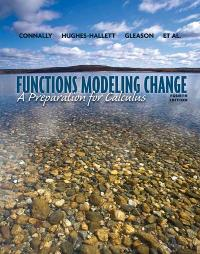 Functions Modeling Change (4th) edition 1118136324 9781118136324