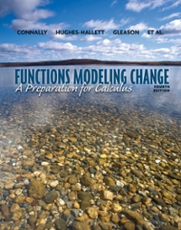 Functions Modeling Change (4th) edition 9781118136317 1118136314