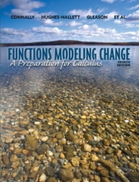 Functions Modeling Change (4th) edition 0470484748 9780470484746