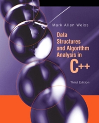 Data Structures and Algorithm Analysis in C++ (3rd) edition 9780321441461 032144146X