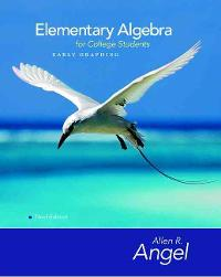 Elementary Algebra Early Graphing for College Students (3rd) edition 0136134165 9780136134169