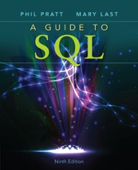 A Guide to SQL (9th) edition 111152727X 9781111527273