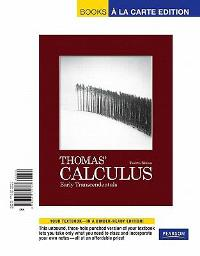 Thomas' Calculus, Early Transcendentals, Books a la Carte Edition (12th) edition  9780321730787