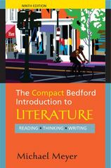 The Compact Bedford Introduction to Literature 9th Edition 9780312594343 0312594348