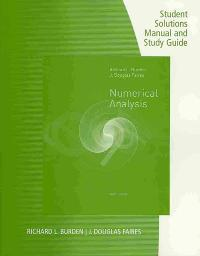 Student solutions manual with study guide for burdenfaires student solutions manual with study guide for burdenfaires numerical analysis 9th edition view more editions fandeluxe Image collections