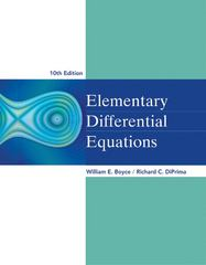 Elementary Differential Equations 10th Edition 9781118617533 1118617533