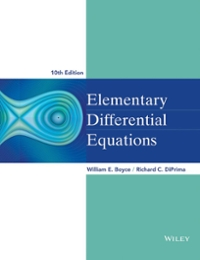 Elementary Differential Equations 10th Edition 9780470458327 0470458321