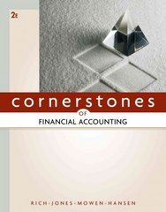 Cornerstones of Financial Accounting 2nd edition 9780538473453 0538473452