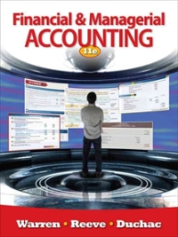 Financial & Managerial Accounting (11th) edition 0538480890 9780538480895