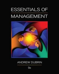 Essentials of Management 9th edition 9780538478236 0538478233