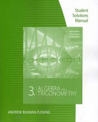 Student Solutions Manual for Stewart/Redlin/Watson's Algebra and Trigonometry, 3rd (3rd) edition 9780840069238 0840069235