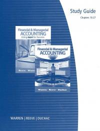Study Guide, Volume 2 for Warren/Reeve/Duchac's Managerial Accounting, 12th and Financial & Managerial Accounting (12th) edition 128595081X 9781285950815