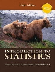 Introduction to Statistics 9th edition 9780558768300 055876830X