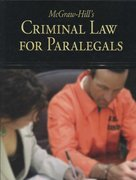McGraw-Hill's Criminal Law for Paralegals 1st edition 9780073376967 0073376965