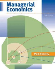 Managerial Economics (with InfoApps 2-Semester Printed Access Card) 12th edition 9780324584844 0324584849
