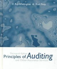Principles of Auditing and Other Assurance Services (13th) edition 007232726X 9780072327267