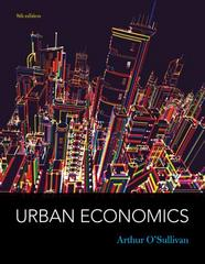 Urban Economics 8th Edition 9780073511474 0073511471